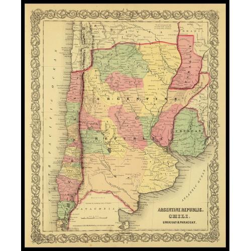 ARGENTINE REPUBLIC, CHILI, URUGUAY, PARAGUAY 1856