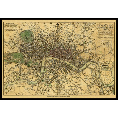 PIGOT & Co.s MINIATURE PLAN OF LONDON & VICINITY 1820
