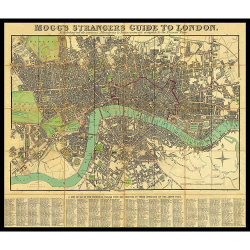 MOGG'S STRANGERS GUIDE TO LONDON 1834
