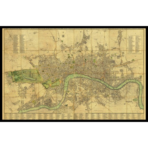 CARY'S NEW AND ACCURATE PLAN OF LONDON 1795