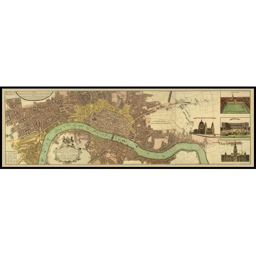 LONDINI - URBIUM LONDINI 1736