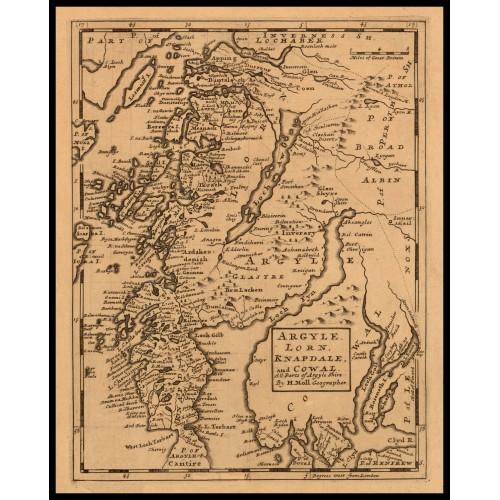 ARGYLE, LORN, KNAPDALE, and COWAL c.1725
