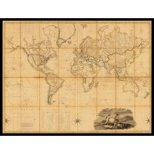 WORLD MAP 1817